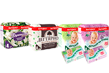 "New products in the range of bar soap - block package and ""Detskoye na travakh"" toilet soap"